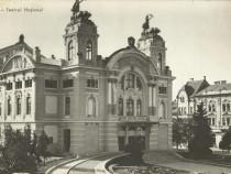 Carte postala Cluj anii 60, Teatrul Naţional, circulată