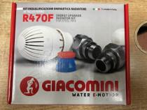 Set robineti tur/retur in unghi si cap termostatat giacomini