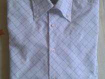 Camasa noua alba cu dungi albastre mac trend l