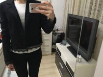 Sacou Reserved negru cu dantela, marime S, nou cu eticheta