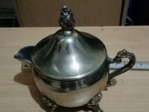 Bronz ceanice cu figurine &cafea din nichel - cupru argint