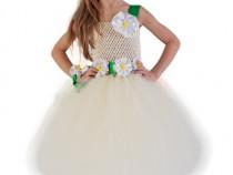 Rochita serbare margareta,rochite floare, costum petreceri
