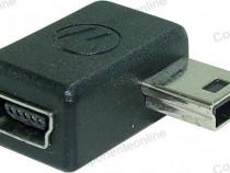 Adaptor mini USB mama - mini USB tata, la 90 grade - 126877