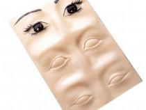 Piele sintetica 3D, sprancene si ochi