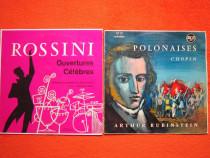 "Vinil Chopin ""Polonaises"" Rubinstein+Rossini ""Ouvertures Cel"