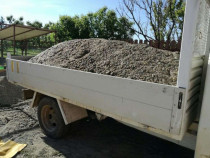 Transport balastru si moloz constructii