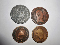 Lot de 4 monede