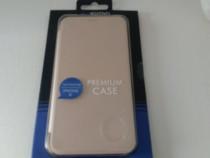 Husa Smart Flip,protectie pentru Apple iPhone X, Auriu,