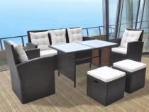 Set mobilier de exterior 18 piese, poliratan(42644)