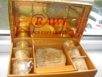 Rawi Set nou cafea 6 persoane-12 piese in cutia originala.