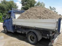 Transport nisip balastru sorturi moluz marfa mobila diverse