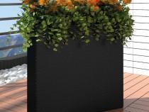 Ghiveci rectangular din ratan pentru grădină, 1 buc (41084)