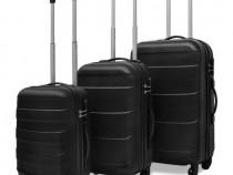 Set valize rigide negre, 3 buc. (91141)