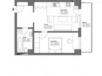 Apartament cu 2 camere, suprafata de 50.03mp, Metalurgie