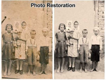Restaurare fotografii vechi procesare digitala
