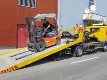 Transport utilaje agricole nacele stivuitoare hidraulica