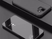 Samsung A6 A6 Plus A8 2018 - Flip Case Clear View Negru, Aur