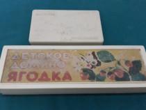2 jocuri vechi rusești*domino+domino cu fructe / anii 1980