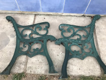 Set picioare banca din fonta turnata