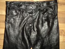 Pantaloni piele clasici moto,marime mare 56,piele moale