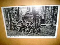 WW2-al 3lea Reich-Grup militari radiolocatie germani pe camp