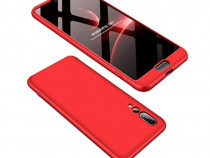 Husa Telefon Plastic Huawei P20 360 Full Cover Red NOU