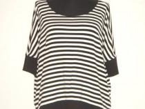 Bluza noua, oversize, Koton, in dungi alb-negru