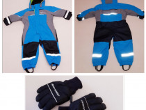 Combinezon, Overall, costum ski, salopeta iarnă Fix + mănuși