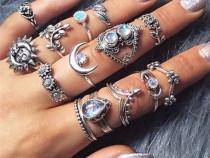 Lot 14 inele oriental indian boho inel fazele lunii soare