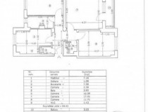 Apartament 3 camere T Doamnei dec et 8 an 1985 ID 12172