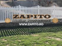 Gard de gradina / gard de curte / gard din lemn alb u