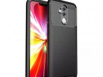 Husa Carbon din Silicon Neagra Huawei P20 Lite Mate 20 LitE