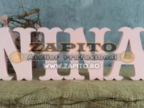 Nume personalizat font nina - litere craiova din lemn