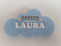 Panou personalizat cu nume pentru decor perete copii -zapito