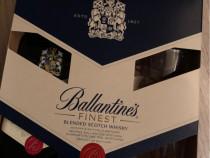 Ballantine's Finest Blended Scotch Whisky 700ml + 2 Pahare