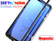 Samsung A9 2018 - Husa Magnetica Spate Din Sticla si Rama Me