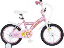 "Bicicleta copii bonanza 16"" little lady roti ajutatoare"
