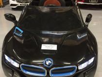 Masinuta electrica BMW i8 2x 35W 12V cu Scaun Tapitat #Black