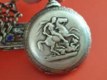 Ceas de buzunar din argint masiv antic