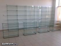 Rafturi din sticla , tejghele, tonete, vitrine sticla magazi