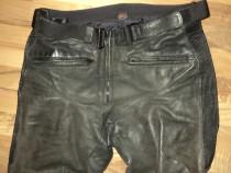Pantaloni moto hein gericke streetline ,piele naturala cu pr