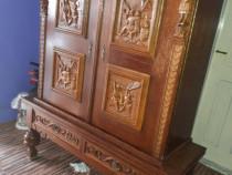Mobila sculptata,model superb,lemn masiv