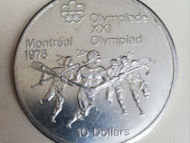10 dollars 1974 Canada moneda argint 925 Jocurile Olimpice
