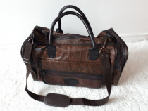 Geamantan mic din piele naturala geanta