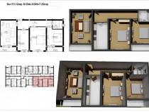 Apartament 3 camere D bloc nou, rate pe 7 ani Hereditas