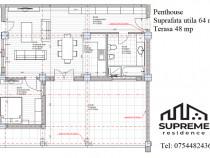 Penthouse 2 camere 64 mp utili Doamna Stanca Central