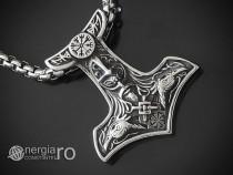 Pandant, Medalion, Pandantiv Ciocanul Thor INOX - cod PND151