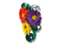 Brosa hand made, florala din hartie