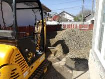 Execut lucrari cu miniexcavator/inchiriere excavator