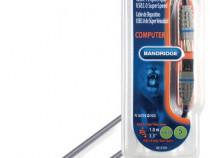 Cablu USB 3.0 Tata - Tata 1.0m , Bandridge BCL5101